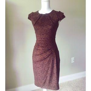 Bebe Suede-Like Leopard Dress